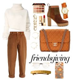 """Friendsgiving"" by lav-en-der-leaves ❤ liked on Polyvore featuring Justine Clenquet, Tory Burch, Ann Demeulemeester, Miu Miu, See by Chloé, Chanel, tarte, Yves Saint Laurent, Gucci and Casetify"