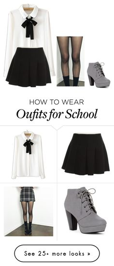 """school days"" by keelhuds on Polyvore featuring WithChic and Alexander Wang"