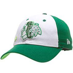 Chicago Blackhawks Womens White and Green St Patricks Day Adjustable Hat #Chicago #Blackhawks #ChicagoBlackhawks #SaintPatricksDay