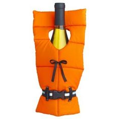 Life's a beach with a life jacket wine bottle cover. Ha.....this is what I need while boating with my brother in law!!! ;)