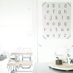 """""""#donebymyselfshop alfabet poster in de keuken!"""""""