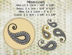 "Ministempel ""MIDI"" houtblokje  paisley-kasjmier van Artistamps op DaWanda.com"
