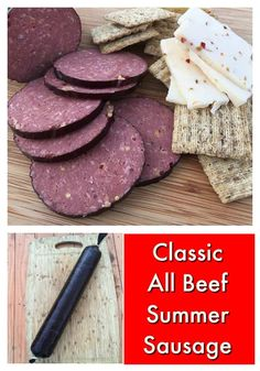 Amaze your family with this spectacular (and easy) Summer Sausage! Amaze your family with this spectacular (and easy) Summer Sausage! Jerky Recipes, Venison Recipes, Barbecue Recipes, Meat Recipes, Cooking Recipes, Smoker Recipes, Game Recipes, Bologna Recipes, Salami Recipes