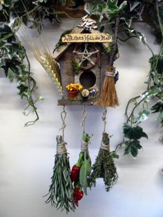 Pagan Handfasting Home Blessing gift Witches rustic bird house Herb drier Hadmade by Rowan Duxbury positivelypagan.com