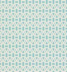 Scion   Lace Wallpaper - Powder Blue, Chalk 110230