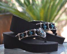 428103058a39 21 Best Sparkle Steps Swarovski Crystal Flip Flops! images ...