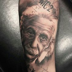 Albert Einstein Tattoo by Miguel Bohigues