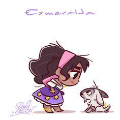 Chibi of Disney´s Esmeralda ♥ Disney E Dreamworks, Disney Films, Disney Cartoons, Disney Pixar, Walt Disney, Disney Characters, Kawaii Disney, Chibi Disney, Disney Amor