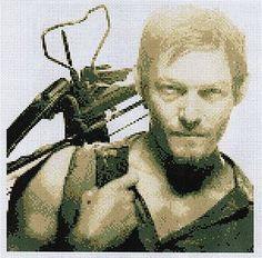 @ Lauren Boatright!  The Walking Dead Cross Stitch Kit Daryl Zombies Comic Goth | eBay