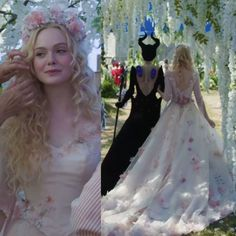 It seems like that outfits from previous post are Aurora and Phillip's royal attire. Here's another sneak peek at as Aurora in… Disney Wedding Dresses, Wedding Gowns, Maleficent Aurora, Aurora Dress, Princesa Disney, Princess Aesthetic, Princess Aurora, Elle Fanning, Dream Dress