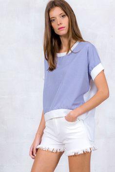 T-shirt oversize en popeline | Believe E