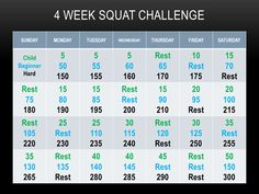squat challenge | Squat Challenge | The Weekly Workout