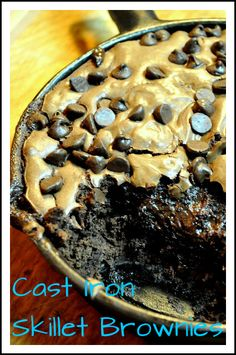 Recipe: http://www.simplyfoodlove.com/2011/04/cast-iron-skillet-brownies.html  I'll take 3. :)