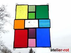 Fensterschmuck - Fensterbild Bunte Vielfalt Tiffany - ein Designerstück von atelier-rot bei DaWanda