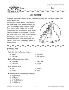 Math Worksheet Mayan Numbers And Calendars Examples Of Problems ...
