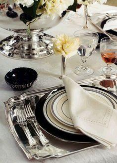 Ralph Lauren Home   Maria Killam - Love the silver tray!