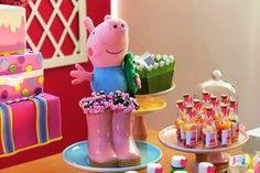 galochas, botinhas, decoração festa, aniversário peppa pig