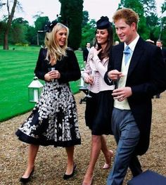Kate with Chelsy Davis and Prince Harry at Peter Phillips wedding