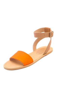 MM6 Maison Martin Margiela Contrast Band Flat Sandals - LOVE the colour!