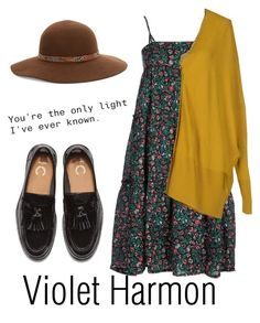 """Violet Harmon - American Horror Story"" by wikianna ❤ liked on Polyvore featuring A.P.C., MM6 Maison Margiela and Kathy Jeanne"