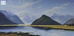 New Zealand, Oil, Mountains, The Originals, Gallery, Nature, Painting, Travel, Beautiful