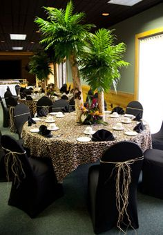 safari themed weddings | jungle themed baby shower