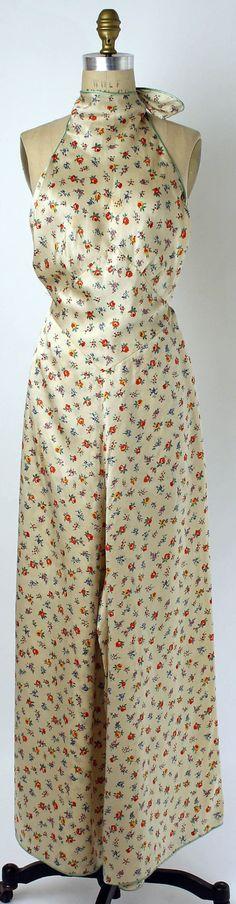 Jumpsuit and Capelet Pajama Set, 1928