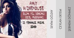 Sesi ve yorumuyla müzik tarihinde efsaneleşenAmy Winehouse 6'ıncı ölüm yıl dönümünde özel bir programla anılıyor!