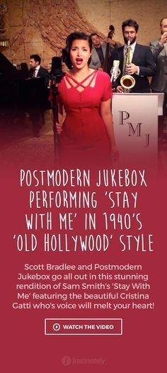 Postmodern Jukebox Performing �Stay With Me� in 1940�s �Old Hollywood� Style