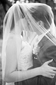 Designer/Planner: Dandy Details Events Stunning Veil Photo Black and White Wedding Photos Captured by: AIS Portraits