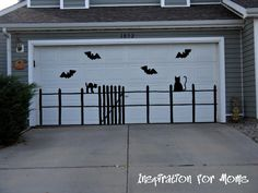 DIY Eerie Outdoor Garage Silhouettes for Halloween