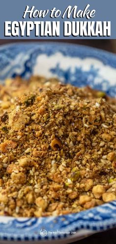 This dukkah mixture of nuts, seeds and spices will be your favorite new condiment! So many ways to use it Easy Mediterranean Diet Recipes, Mediterranean Dishes, Homemade Spices, Homemade Seasonings, Small Food Processor, Food Processor Recipes, Dukkah Recipe, Spice Mixes, Spice Blends