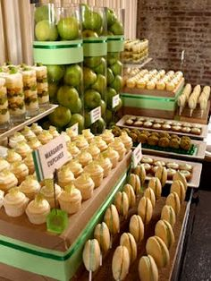 Green Dessert Table (different color tables)
