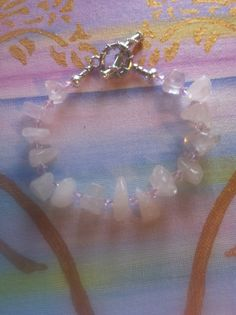 Larg Chunk Rose Quartz Angel Healing Bracelet by AngelTouchReiki