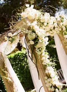 Wedding, Flowers, Green, White, Ceremony, Decorations, Altar - Project Wedding