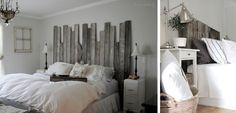 Cabeceros de madera DIY en el dormitorio - http://www.decoora.com/cabeceros-de-cama-diy-en-madera/