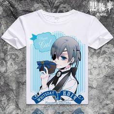 "Black Butler Short Sleeve Anime T-Shirt - <a href=""http://OtakuForest.com"" rel=""nofollow"" target=""_blank"">OtakuForest.com</a>"