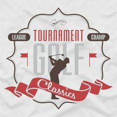 Tournament golf classics design for custom t-shirts and fashion products