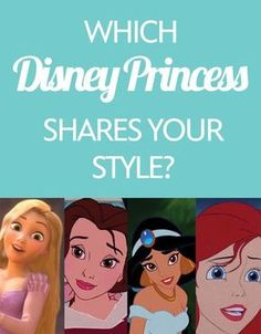 Meet your princess (style) match! I got Belle's style & Rapunzel's braid! 2 of my favorite princesses!