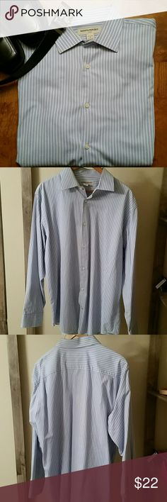 Banana Republic dress shirt Blue with white stripes dress shirt from Banana Republic.  Like new condition. Banana Republic Shirts Dress Shirts