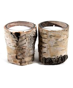Take a look at this Birch Bark Votive - Set of Two by ACME Party Box Company on #zulily today!