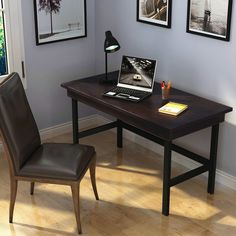 """Amazon.com: Tribesigns 55"""" Large Computer Desk with Pull-Out Keyboard Tray, Industrial Style Writing Desk Study Table Workstation for Home Office: Kitchen & Dining Large Computer Desk, Computer Desks, Home Office, Office Desk, Writing Desk, Industrial Style, Keyboard, Kitchen Dining, Corner Desk"""