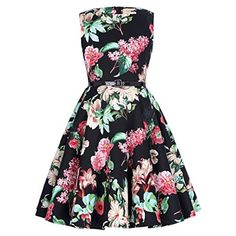 Girls Skater Dress Kids Neon Tropical Print Summer Party Dresses New Age 7 8 9 10 11 12 13 Years