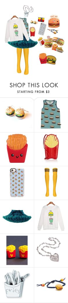 """""""Eat me (Kawaii) Burger"""" by pinkleopardkitten ❤ liked on Polyvore featuring Fraiche, Gelareh Mizrahi, Casetify, Junk Food Clothing and Venessa Arizaga"""