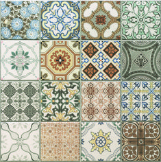 Vintage Decor Rustic Provence rustic tiles are beautiful country tiles which can be used as either wall or floor tiles. These decor tiles have been designed to co-ordinate with either the grey or terracotta tiles to create individual tile designs. Glass Tile Backsplash, Kitchen Wall Tiles, Kitchen Flooring, Patterned Kitchen Tiles, Flooring Tiles, Bathroom Shelves, Geometric Patterns, Tile Patterns, Cocina Shabby Chic