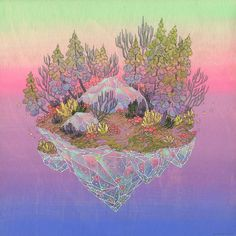 Love her work! nimasprout - Art by Nicole Gustafsson: Available Original Paintings Art Inspo, Kunst Inspo, Inspiration Art, Art And Illustration, Fantasy Kunst, Fantasy Art, Space Painting, Colossal Art, Fantasy World