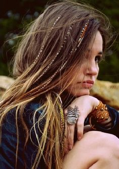 all down hairstyles - hippie hairstyle for women