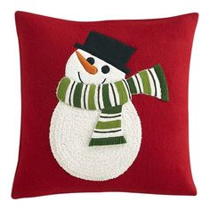 Mesmerizing Square Red Microfiber Red Throw Pillows Offer Sumptuous Look Perfect For Bedroom White Snowman Picture Material Curly And Fluffy Huggable And Wonderfulness Pure Softness Microfiber Cute Red Throw Pillows Pillows & Cushions Christmas Cushions, Christmas Pillow, Christmas Projects, Christmas Crafts, Christmas Ornaments, Christmas Sewing, Christmas Diy, Christmas Stuff, Christmas 2019
