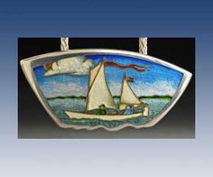 The work of Kristin Anderson of Long Dream Gallery, Apalachicola, Florida Kristin Anderson, Vitreous Enamel, Enamel Jewelry, Jewellery, Jewelry Design, Designer Jewelry, Custom Jewelry, Silver Earrings, Jewelry Making
