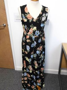 b6c08a026a DOROTHY PERKINS Floral Sleeveless Wide Leg Jumpsuit Size 12 Black (New)   fashion  clothing  shoes  accessories  womensclothing  jumpsuitsrompers  (ebay link)